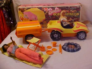 child camping chair harmony high recall vintage 1970's barbie dune buggy and trailer