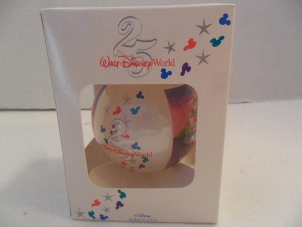 1990' Walt Disney World 25th Christmas Ornament Mib