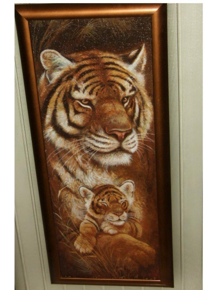 unique kitchen clocks buffet furniture african tiger cub wall art picture safari decor