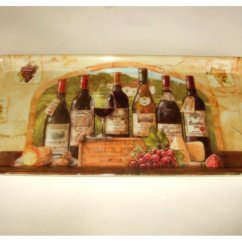 Fruit Themed Kitchen Decor Collection Sink 33x22 Wine Grapes Tuscan Tray