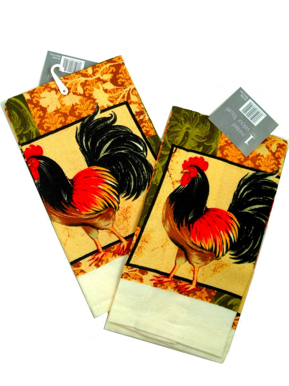 Roosters Kitchen Towels Set