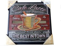Caf Latte Coffee Themed Kitchen Mirror Wall Art