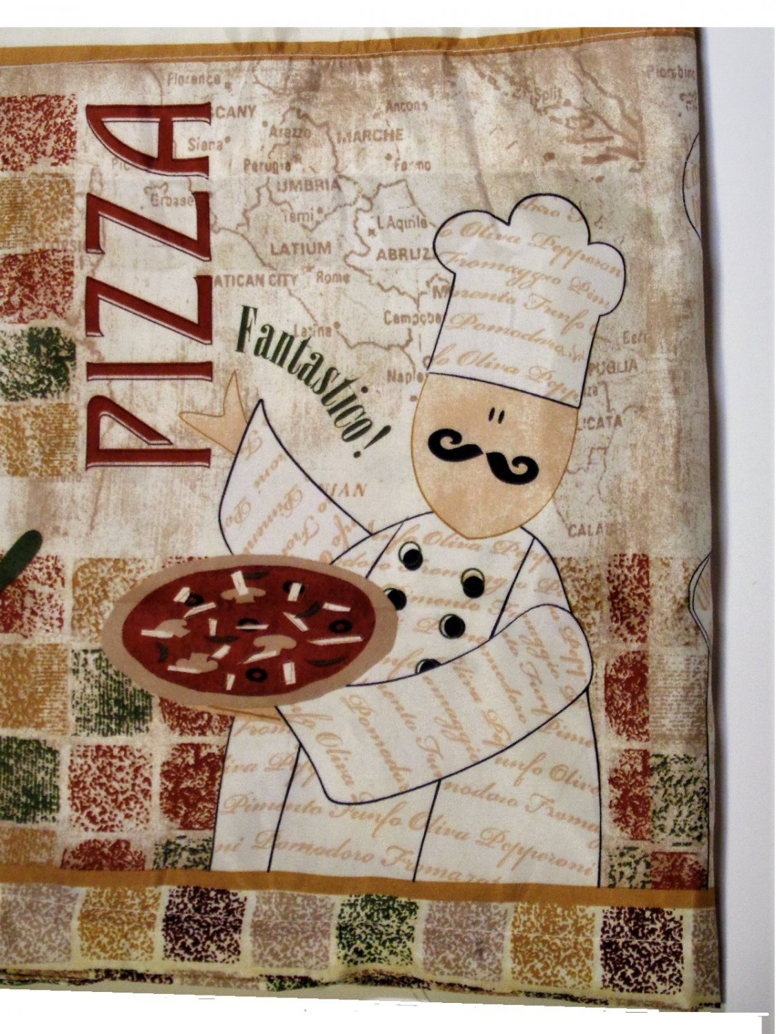 italian themed kitchen curtains small sink fat chef set tiers valance