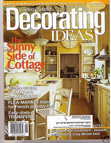 Country Samplers Decorating Ideas Magazine Aug 2003