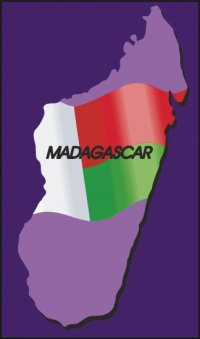 Madagascar Country Map Flag Wall Decal