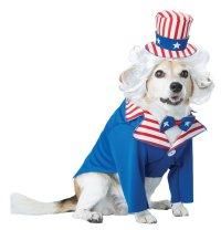 USA Patriotic Uncle Sam Pet Dog Costume Size: Large #20147