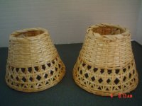 Wicker Small Lamp Shades for Candle Lamps - Open Style