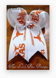 texas longhorns cheerleading hair