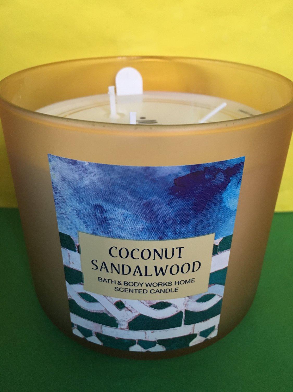 Bath Amp Body Works Coconut Sandalwood 3 Wick Candle Large