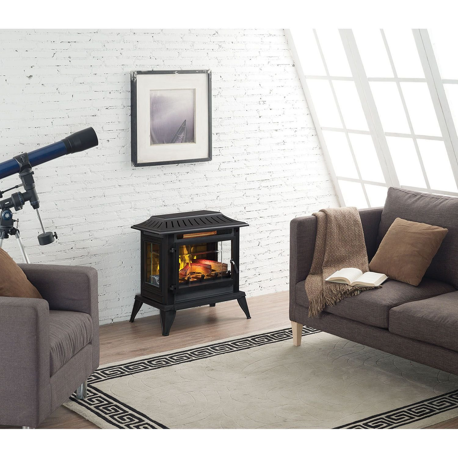 Twin Star International Infragen 3d Electric Fireplace Stove