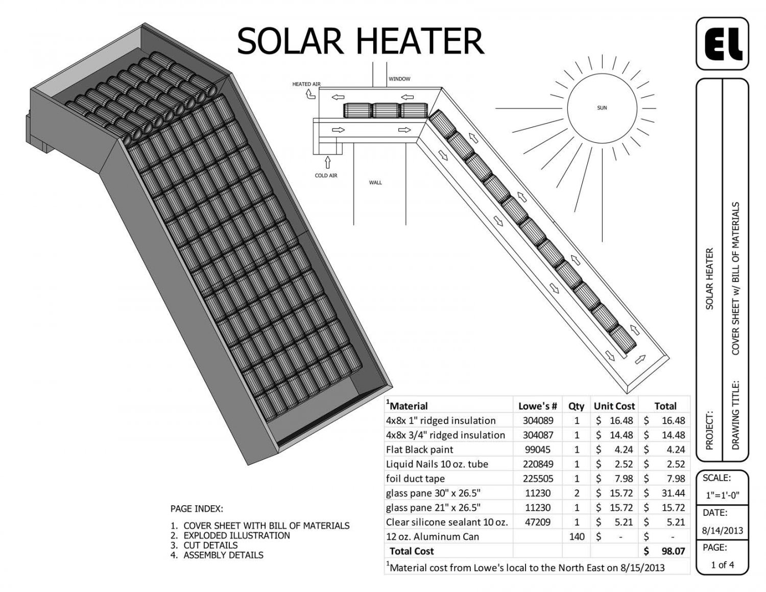Solar Window Mounted Passive Heater Building Plans