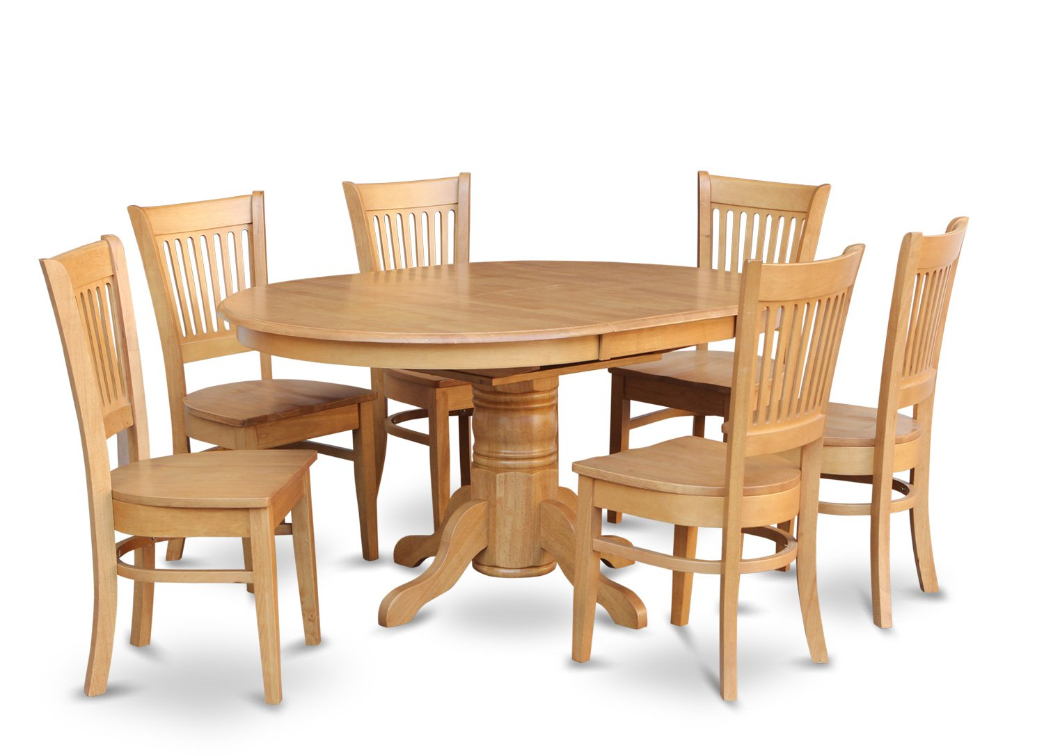 oval kitchen table sets model kitchens 7 pc dinette dining set with 6 wood