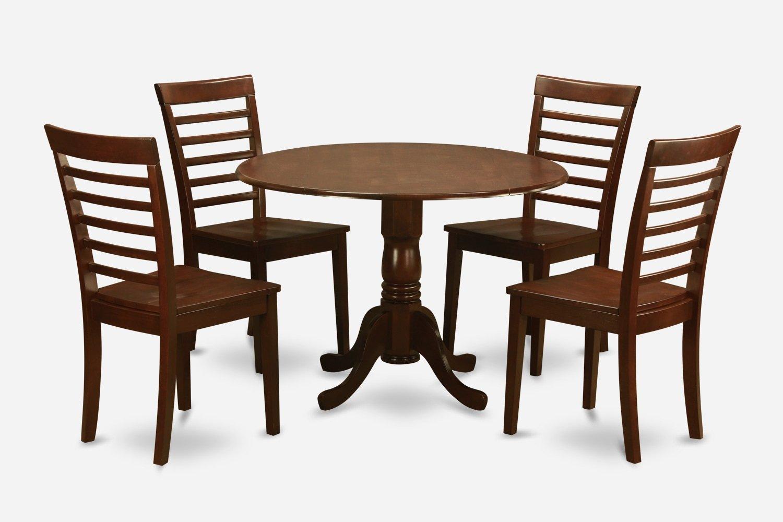 desk chair dublin victorian parlor 5pc round table w drop leaf 434 milan wood seat
