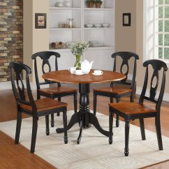 Dining Table And Chairs Dublin Paris Bistro Restoration Hardware 5pc Round W 2 Drop Leaves And4 Kenley Wood Seat