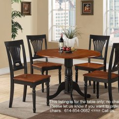 Black Round Kitchen Table And Chairs Bedroom Chair Pepperfry 42 Quot Dublin Drop Leaf Pedestal Without