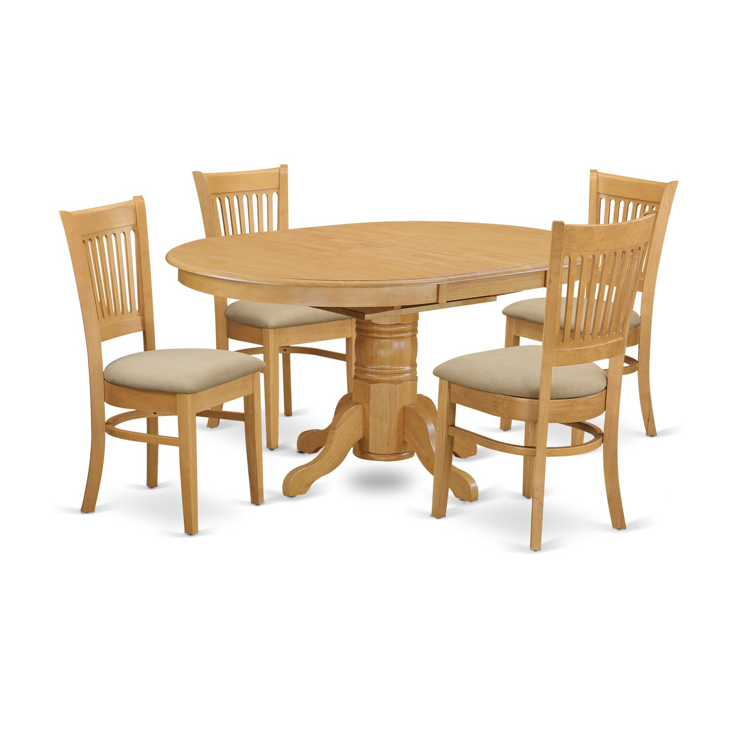 rubberwood butterfly table with 4 chairs gold chair covers for sale 5 pc dinette dining set oval microfiber