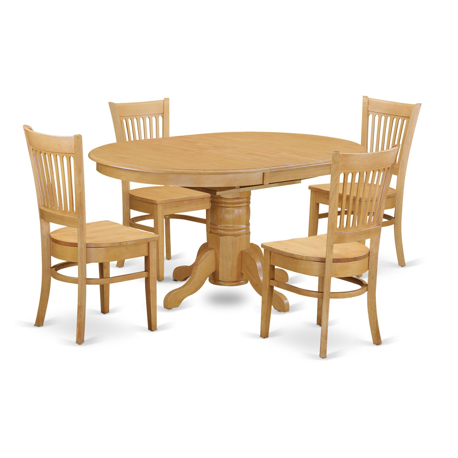oval kitchen table sets lantern pendant light for 5 pc dinette dining set with 4 wood