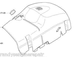 Husqvarna # 537212501 Top Cylinder Cover fits 570 575 576