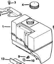Kohler Fuel Gas Petrol Tank & Cap 41 721 03-s 25 173 03-s