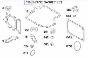 Briggs and Stratton 794150, 796187 Engine Overhaul Gasket
