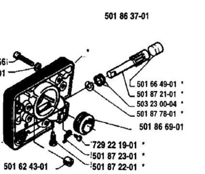 Husqvarna Oil Oiler Pump 501 86 37-01, 503 16 73-01 fit