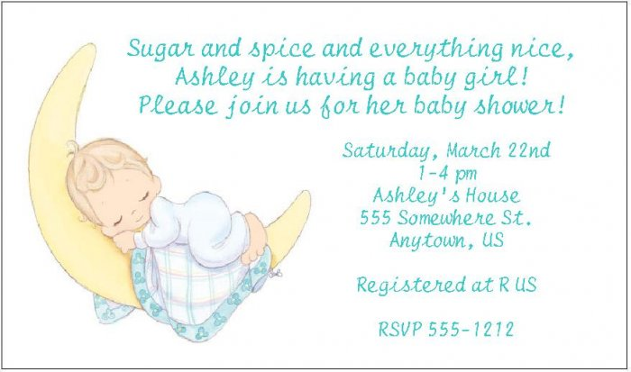 Precious Moments Baby Shower Invitations