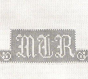 Filet Crochet Monograms Pattern Crochet Letters for Linens