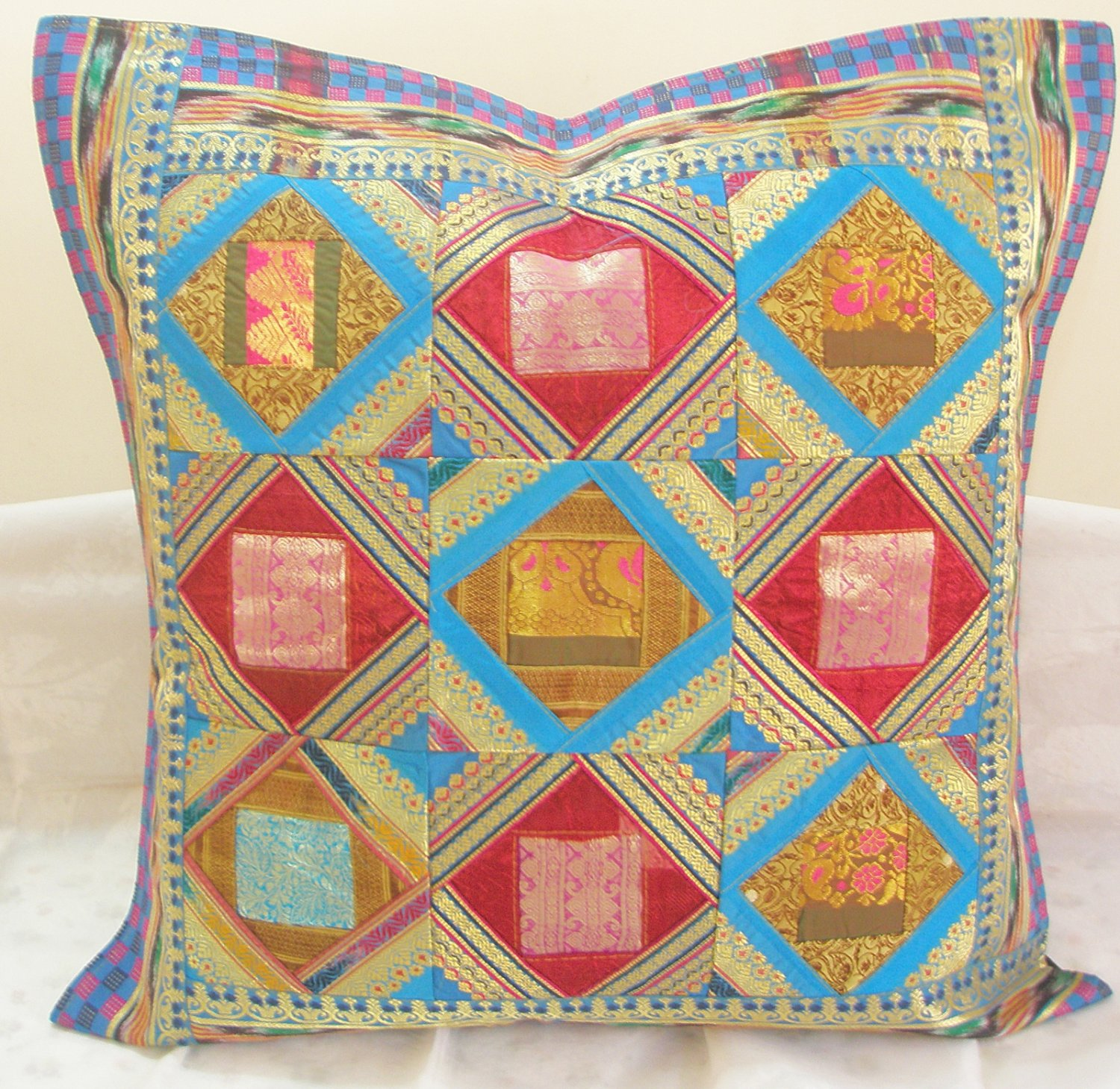 extra large sofa cushion covers antique style sleeper handmade patchwork toss pillow
