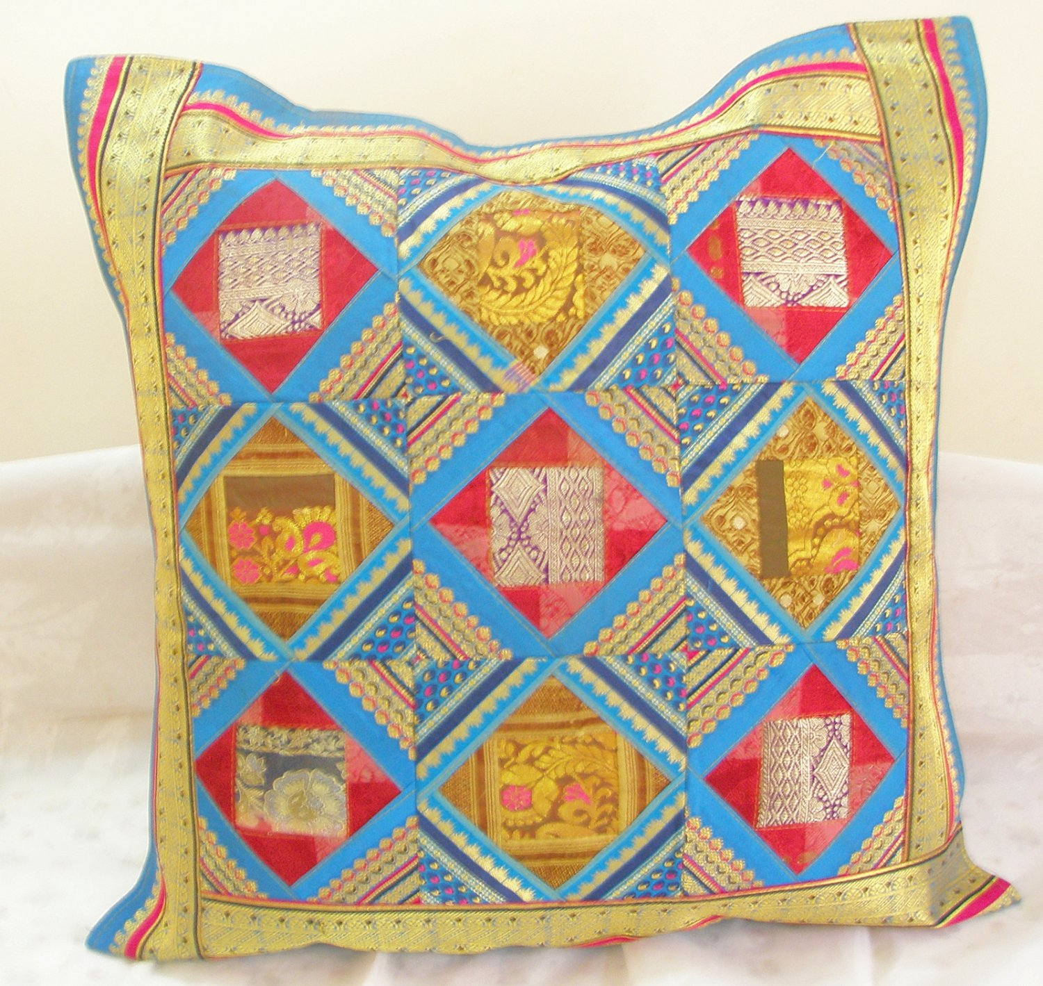 extra large sofa cushion covers loveseat and arrangements ethnic tribal patchwork toss pillow