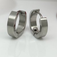 Men's hoop earrings, large stainless steel hoop earrings ...