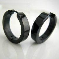 Black Hoop Earrings For Men