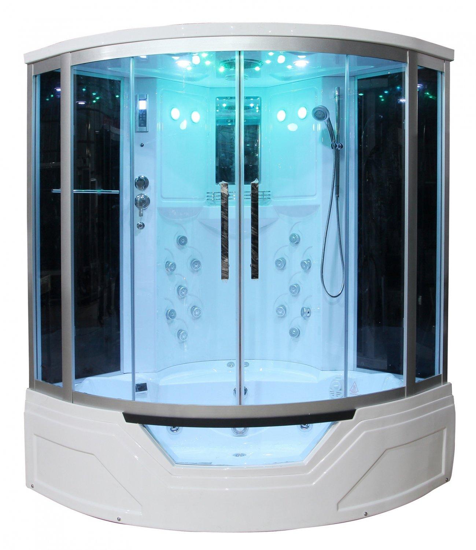 59 Eagle Bath WS 703 Steam Shower Sauna Enclosures W Whirlpool Bathtub Combo Unit