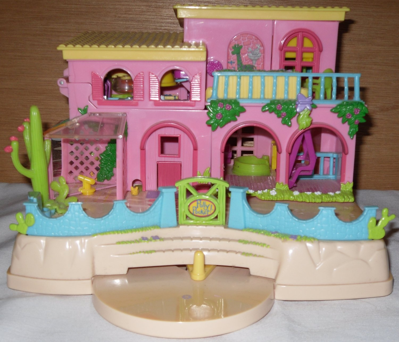 Sold Polly Pocket Dollhouse Hacienda  Doll House Animals