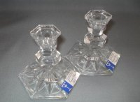 CANDLE HOLDERS: 24% Lead Crystal
