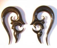 Tribal SAGARIS spiral organic horn ear gauges earrings ...
