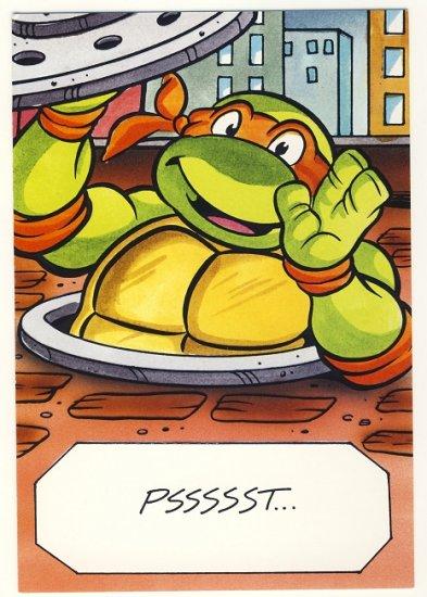 Michaelangelo Friendship Greeting Card Ninja Turtles TMNT