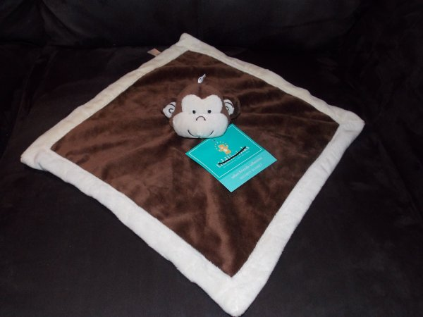 Tiddliwinks Brown & Cream Monkey Velour Baby Security