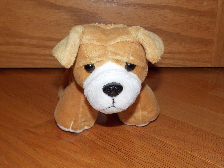 Circo Puppy Dog Tan Brown Beige White Plush Target Toy 8