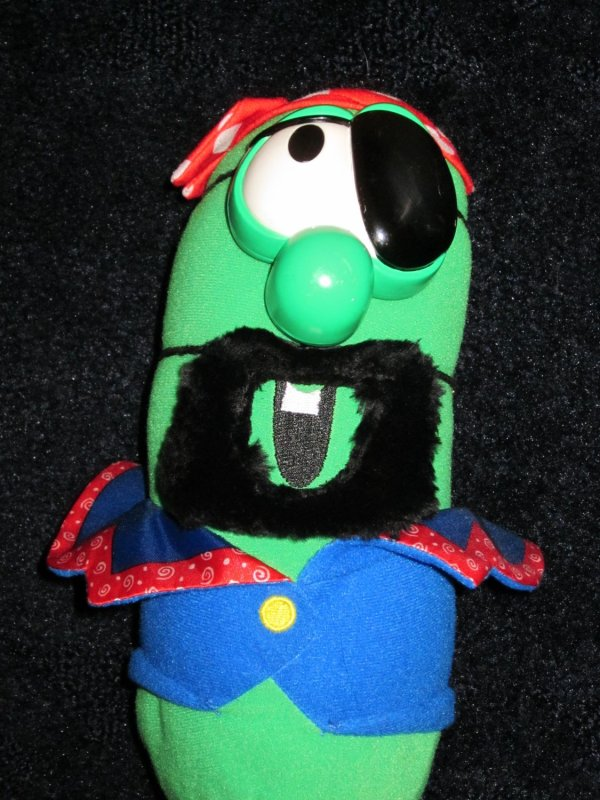 Fisher Veggie Tales Larry Cucumber Dressed Elliot Pirate