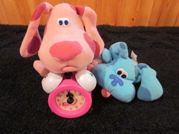 Three Blues Clues Toys Tick Tock Clock Blue And Magenta