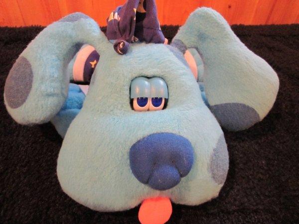 Tyco 1999 Blues Clues Plush Dog Goodnight Blue Talking