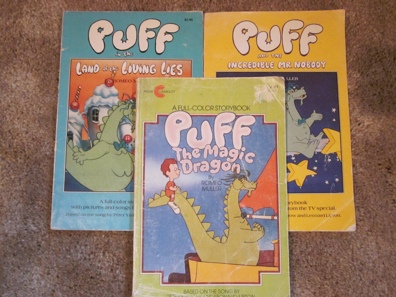 Vintage Puff the Magic Dragon Books lot of 3