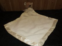 Barefoot Dreams Cream Security Blanket With Attached Plush