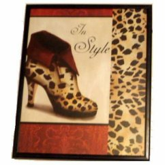 Apple Kitchen Rugs Country Style Tables Leopard Print Shoe Framed Wall Decor
