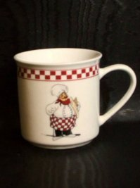 Fat Italian Chef Coffee Mugs Chefs Kitchen Decor