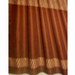 Coffee Themed Kitchen Rugs Sink Parts Beige Brown Zebra Stripe Fabric Shower Curtain