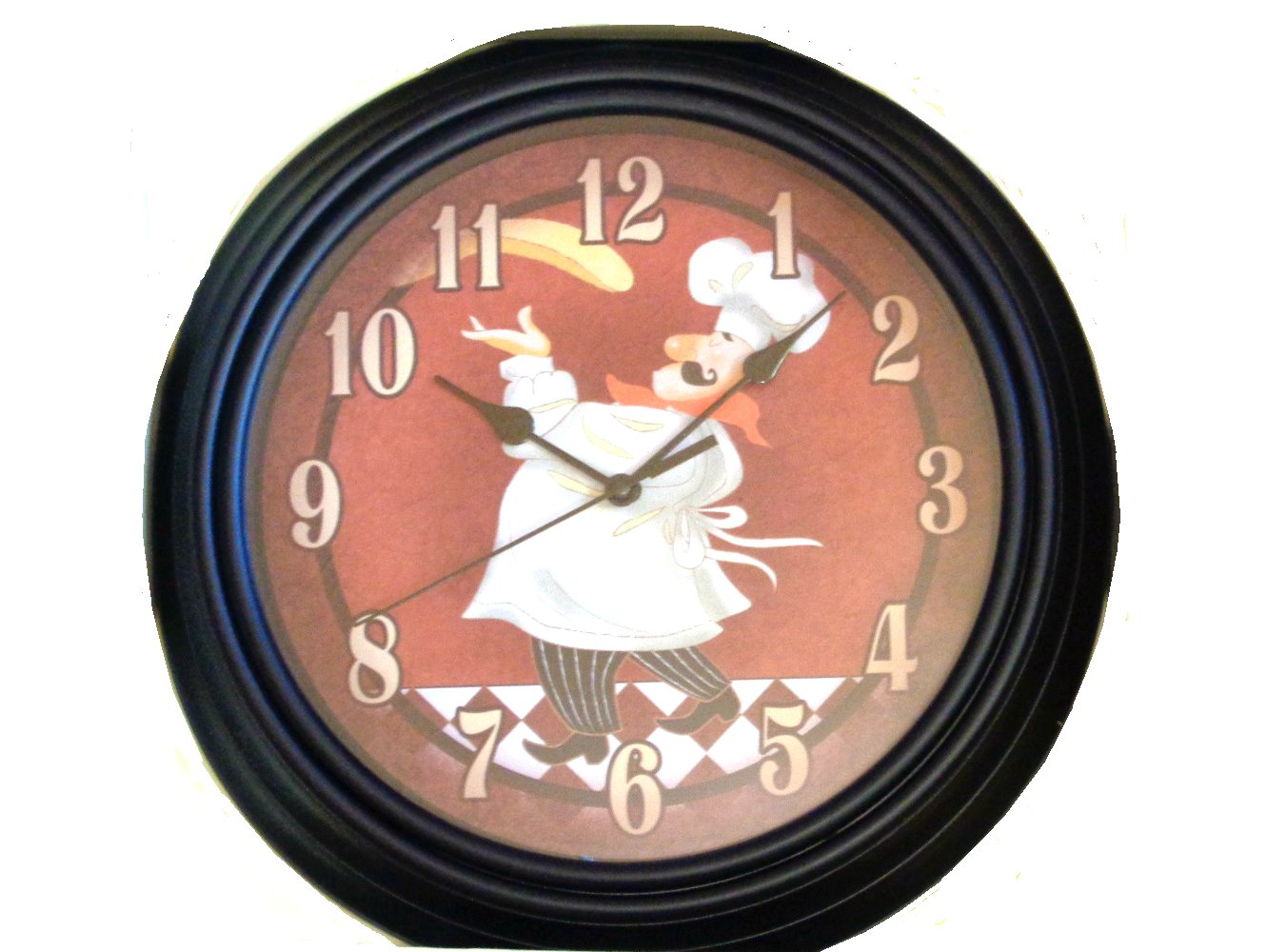 kitchen clocks for sale unfinished pantry fat italian chef pizza wall clock