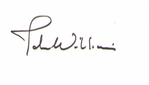 John Williams signed 3x5 (COMPOSER, Film Score, Star Wars
