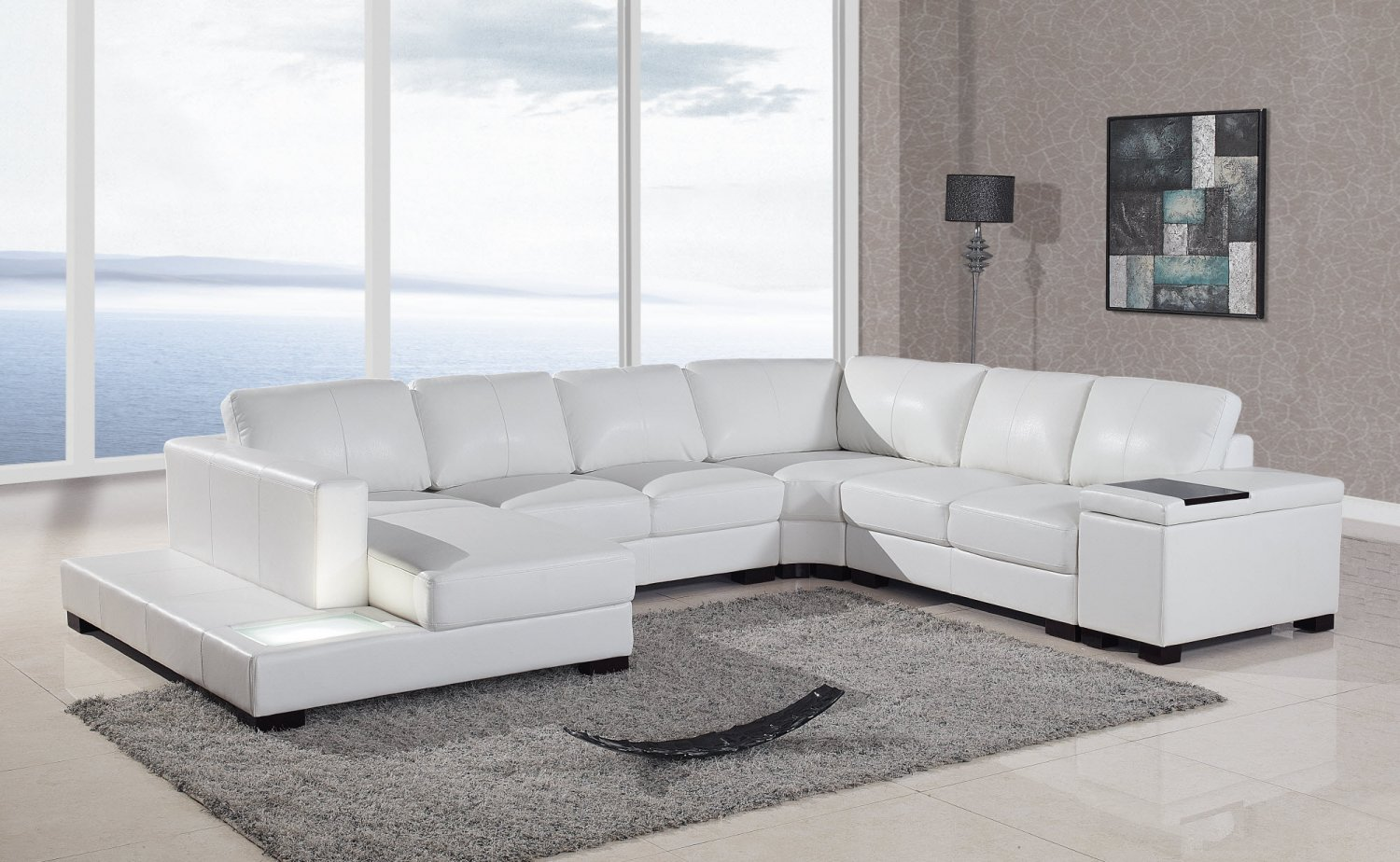 leather modern sectional sofa white 70 bed t35 style italian bonded living room