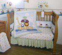 NEW KIDSLINE NOAHS BUDDIES ARK 4 PIECE BABY NURSERY CRIB ...